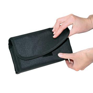 Portofel cu buzunar transparent pentru monezi