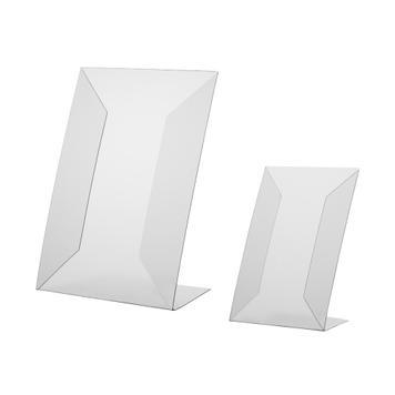 Stand L din PVc dur, A4 sau A5, format portrait sau landscape