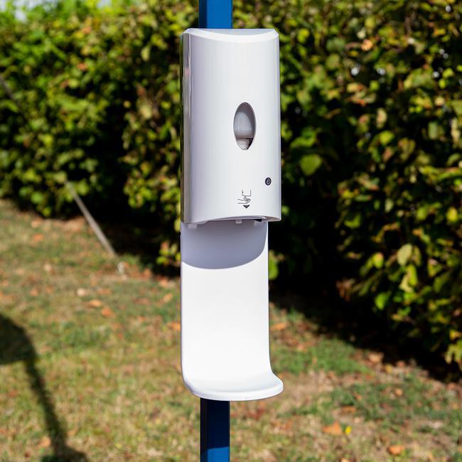 """Dispenser dezinfectant pentru perete """"Sensor-S""""- upgradat pentru pavilioane si tije"""