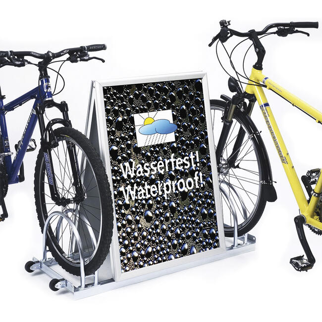 Standuri pentru biciclete cu rame Click de aluminiu