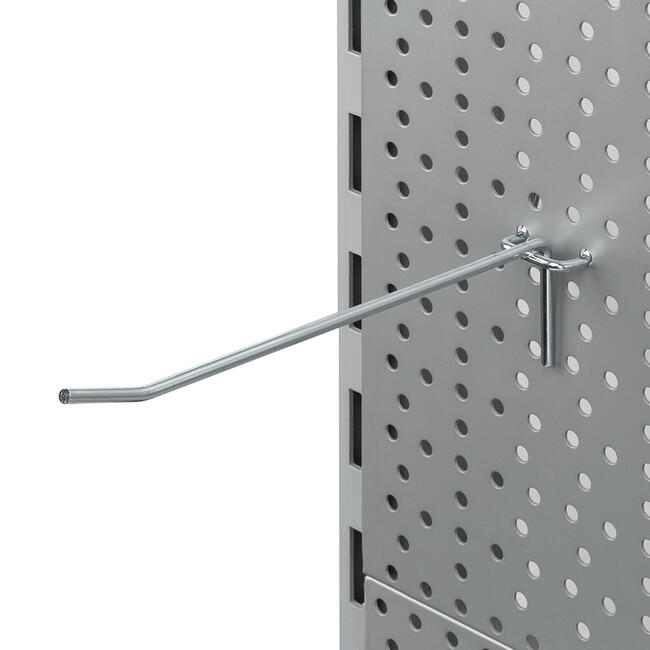 Carlig simplu pentru panou perforat 4 mm