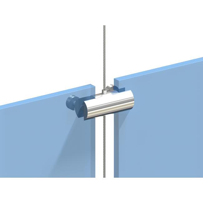 Suport dublu pentru sistem cablu, posibilitate de fixare pentru 2 placute