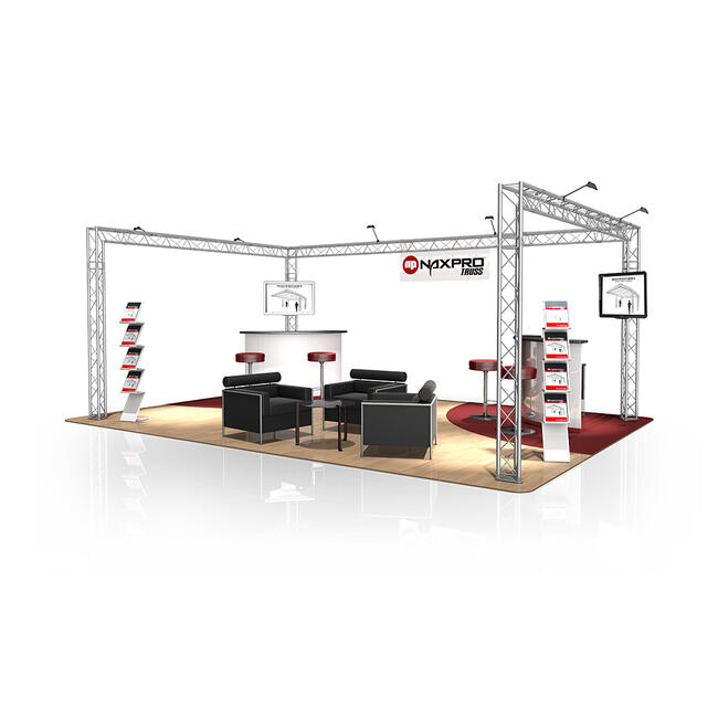 Stand expo FD 23, 6000 mm x 2500 mm x 4000 mm (l x H x A)