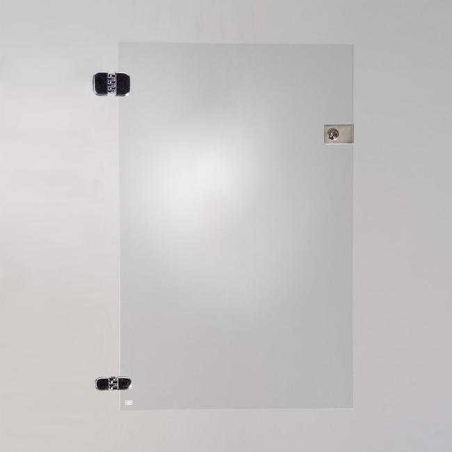 Ușă de sticlă pentru 2 compartimente ale vitrinei