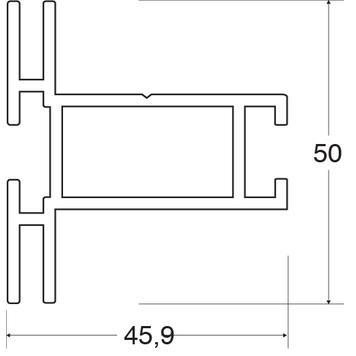 Profil rama stretch 50 mm
