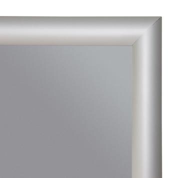 Rama click, profil de 25 mm,  argintiu anodizat, colturi rotunde/drepte