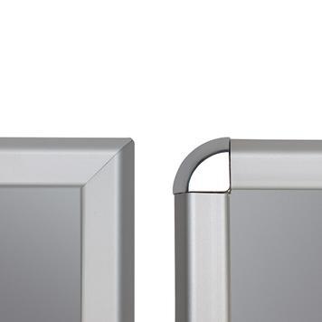 Rama click, profil de 32 mm, argintiu anodizat, colturi drepte/rotunde