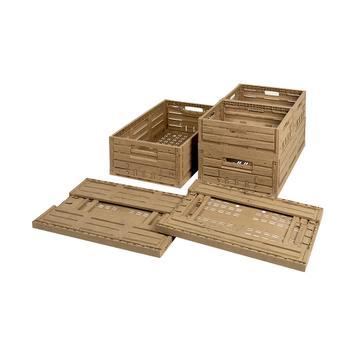 Cutii pliabile în aspect de lemn