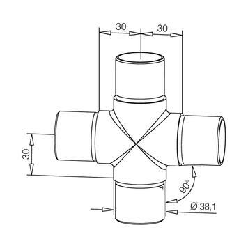 Conector tub cruce