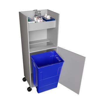 Dulap pe role pentru produse de dezinfectare