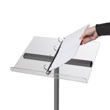 """Suport de birou""""Info"""" / ''Info Aluminiu'' cu/fara mecanism cu inele"""