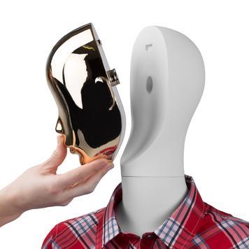 "Parte frontala pentru cap manechin ""Magic"", optica aurie"