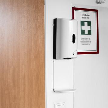 """Dozator dezinfectant maini cu senzor pentru montare pe perete """"Sensor-Wall"""""""